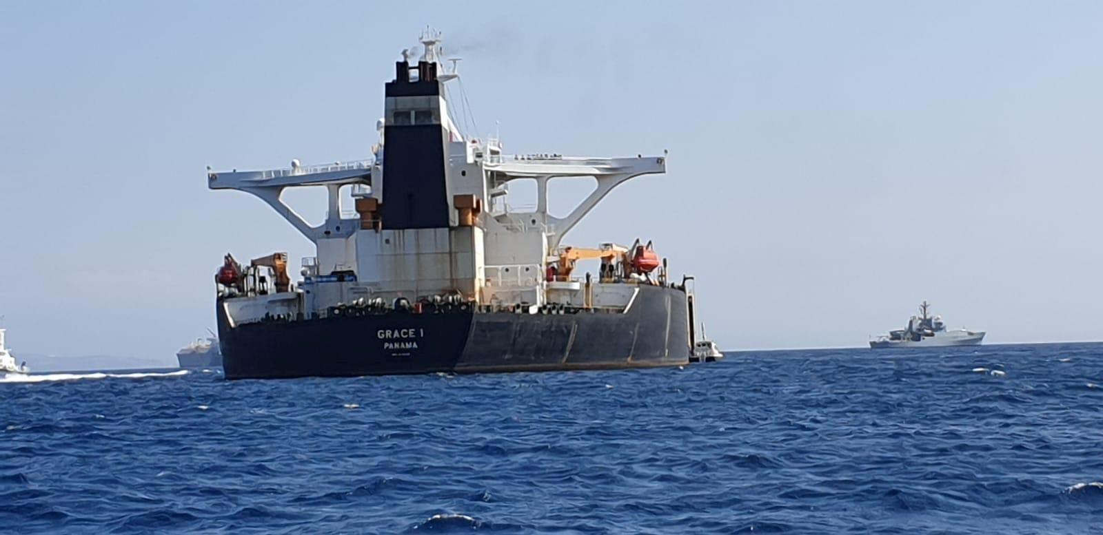 Gibraltar/ Tanker/ Supertanker/ Grace 1/ British Royal Marines