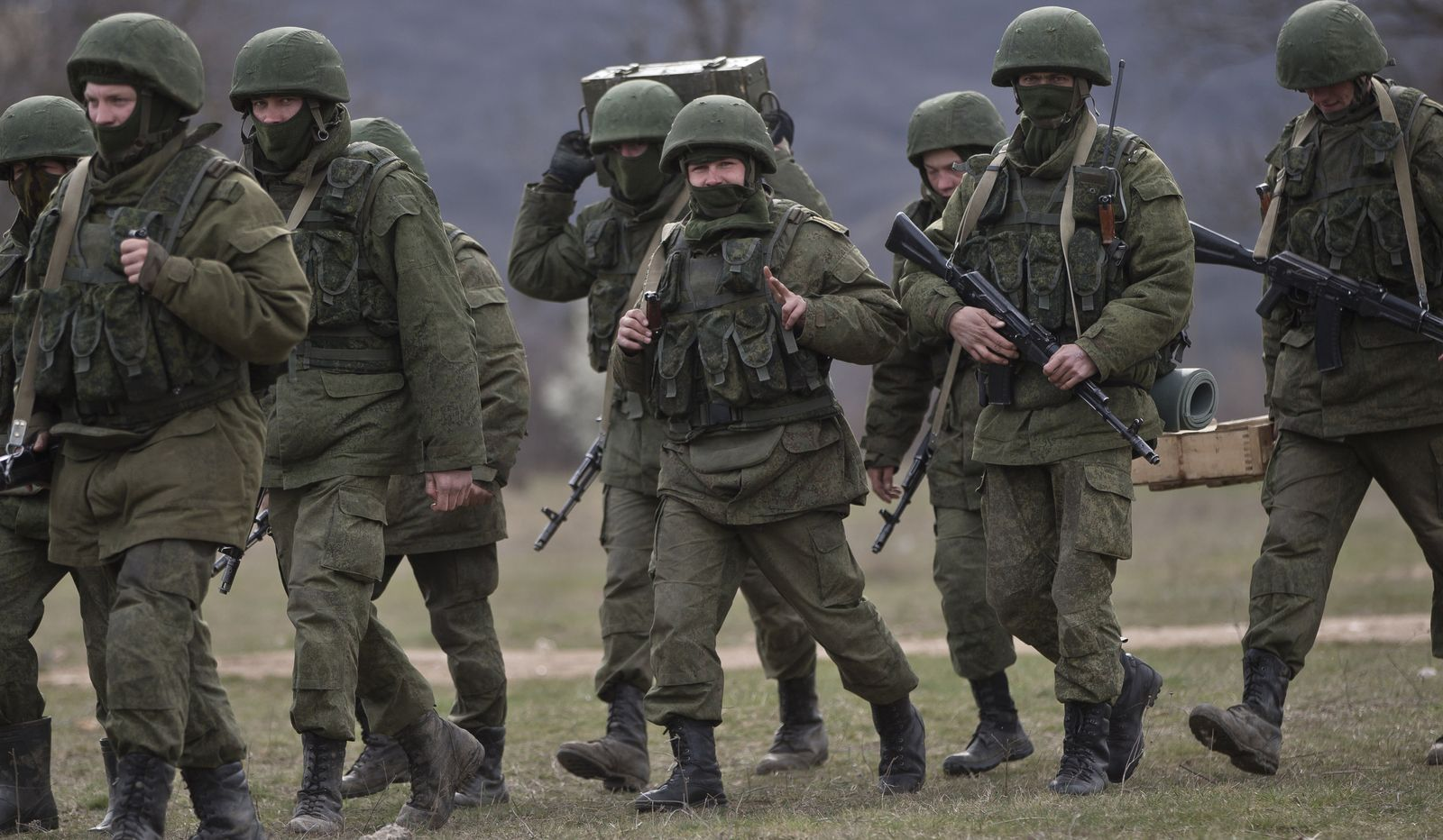 Russische Soldaten auf der Krim