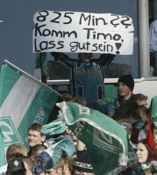 VfB-Keeper Timo Hildebrand erhörte Bremens Fans erst nach insgesamt 884 Minuten