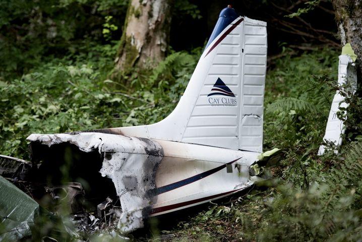 Wrack des Wagner-Flugzeugs