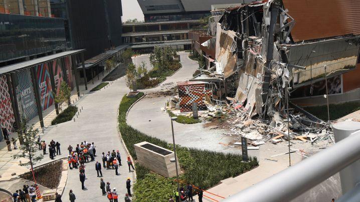 Eingestürzte Mall: Evakuierung in fünf Minuten