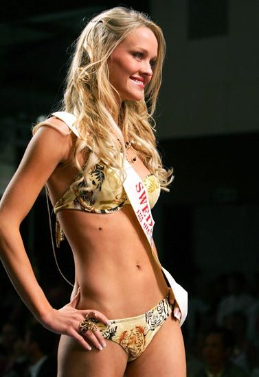 Auch bei den Missen ist Bikini Pflicht: Die schwedische Miss-World-Anwärterin Liza Berggren