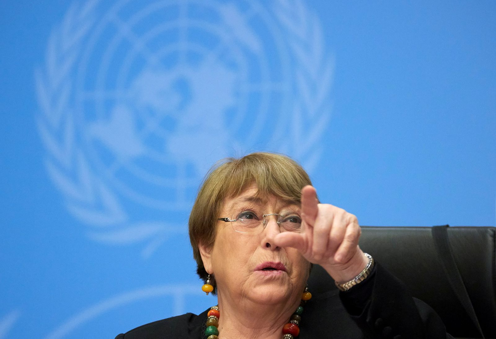 FILE PHOTO: U.N. High Commissioner for Human Rights Bachelet attends a news conference in Geneva
