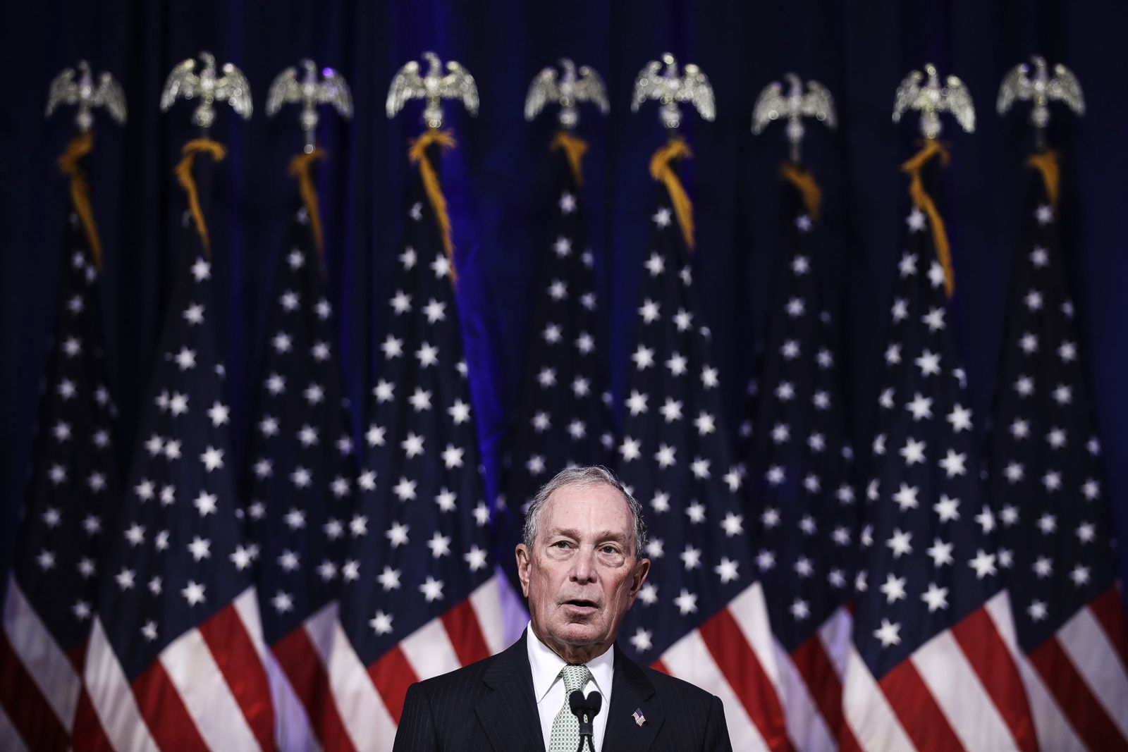Democratic Presidential Candidate Mike Bloomberg Meets Voters And Elected Officials In Norfolk, Virginia