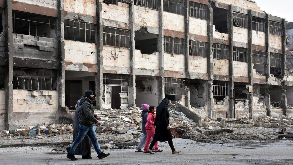Zivilisten in Aleppo