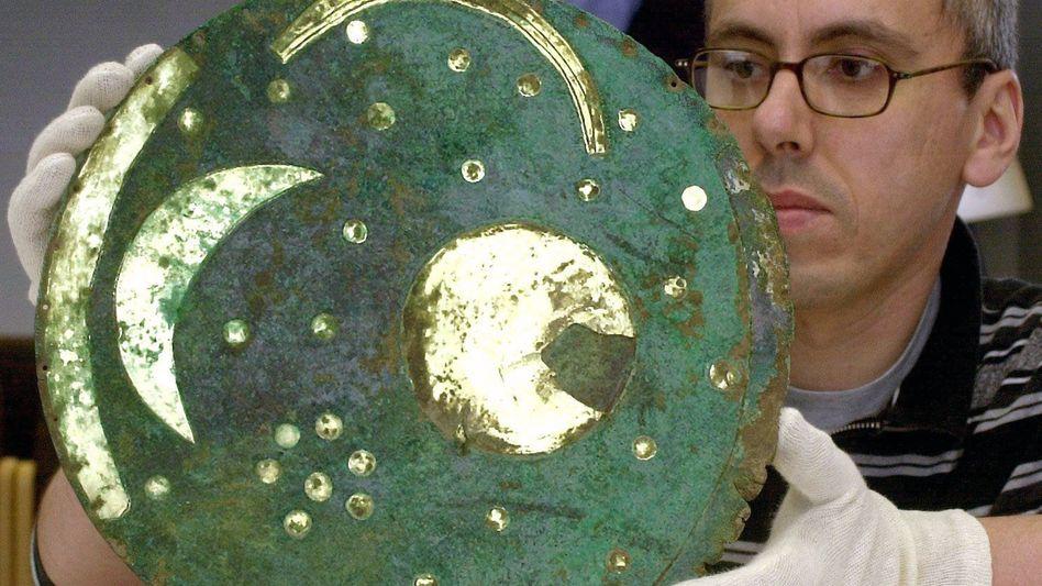 Himmelsscheibe von Nebra (Archiv): Mindestens 3700 Jahre alt und Teil des Unesco-Welterbe