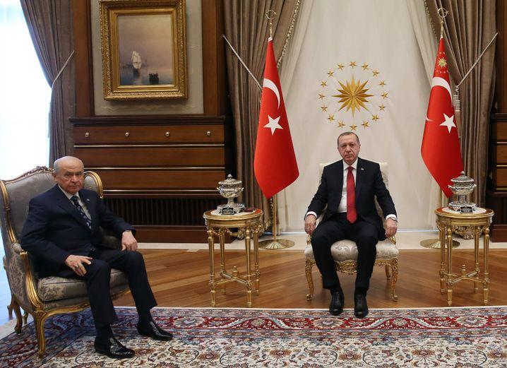 Erdogan (r.) und Bahceli