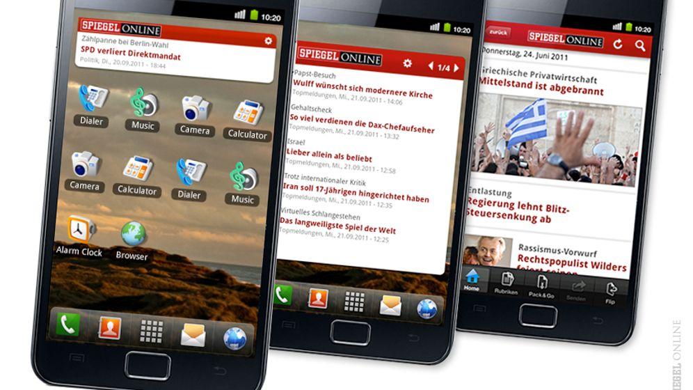 SPIEGEL ONLINE auf Android: So funktionieren App und News-Widget