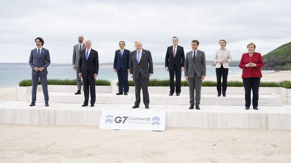 Staats- und Regierungschefs der G7 beim Gruppenbild
