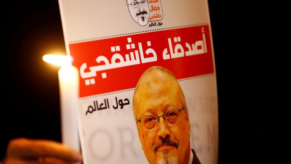 Khashoggi-Porträt auf Protestplakat (Archiv)