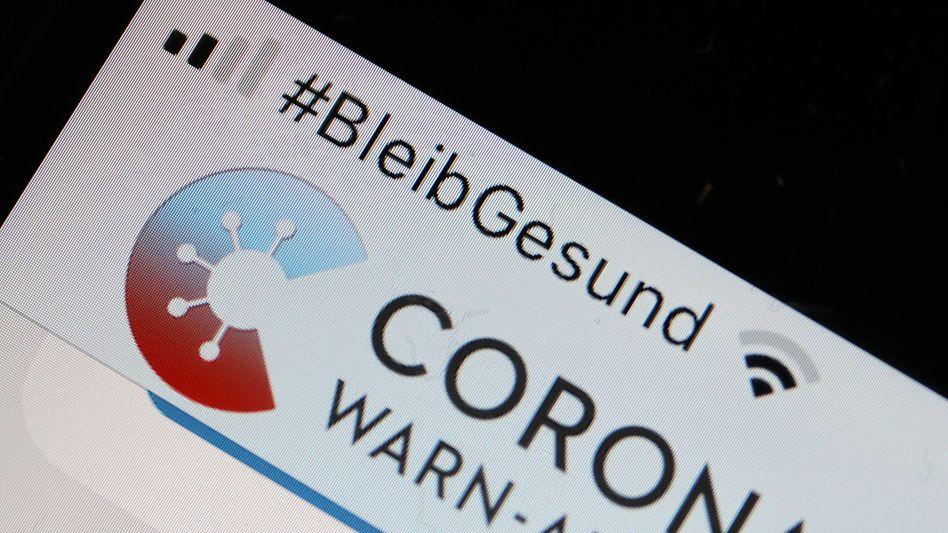 Corona-Warn-App auf einem Smartphone