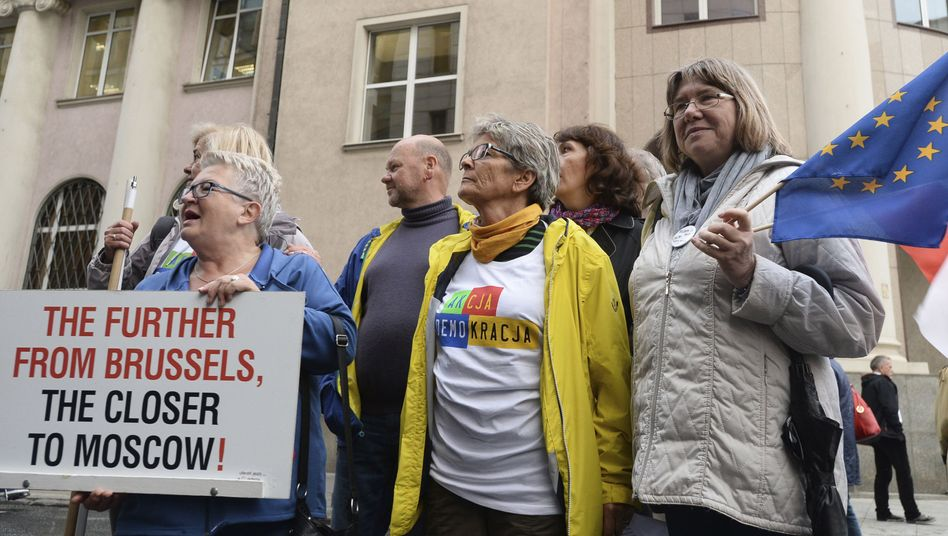 Proteste gegen Justizreform in Warschau