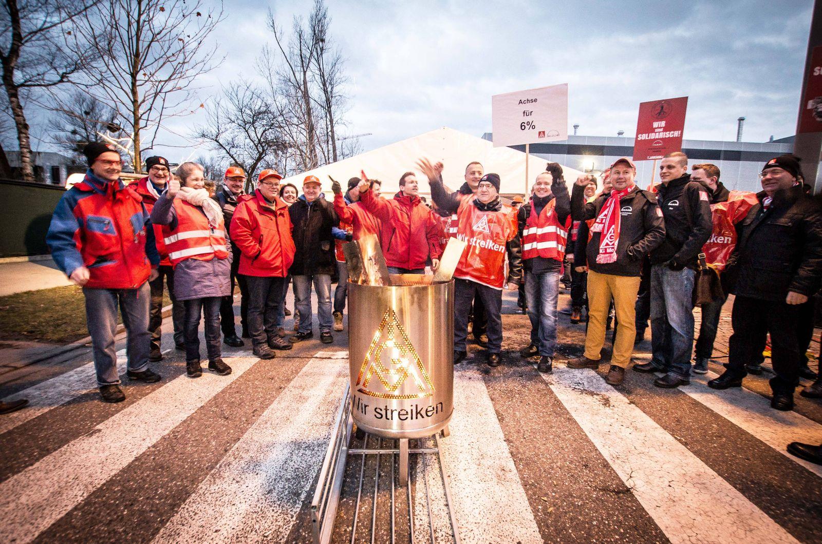 EINMALIGE VERWENDUNG Startbild - Metaller Warnstreik in München