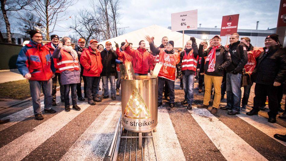 Metaller-Warnstreik bei MAN in München am 31. Januar