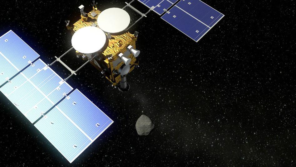 So sieht die japanische Raumsonde »Hayabusa 2« aus