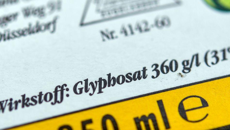 Verpackung eines Unkrautvernichtungsmittels mit Glyphosat