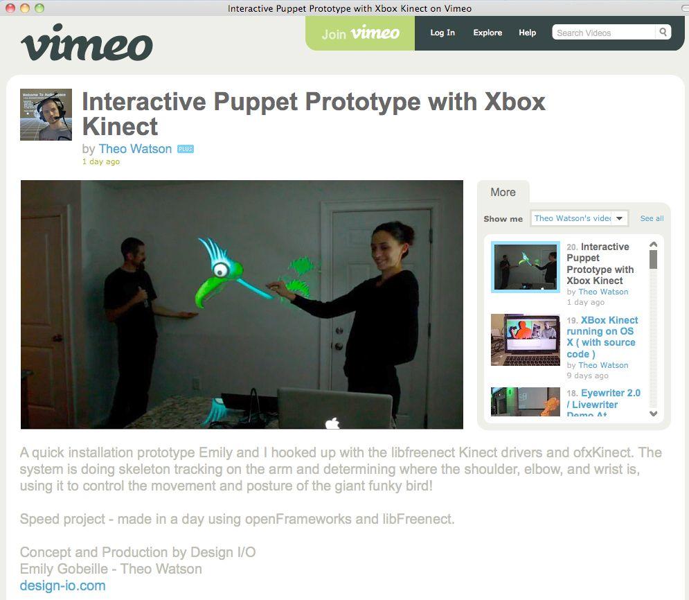 NUR ALS ZITAT Screenshot / Interactive Puppet with Xbox