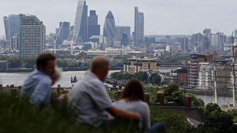 Blick auf London vom Greenwich Park