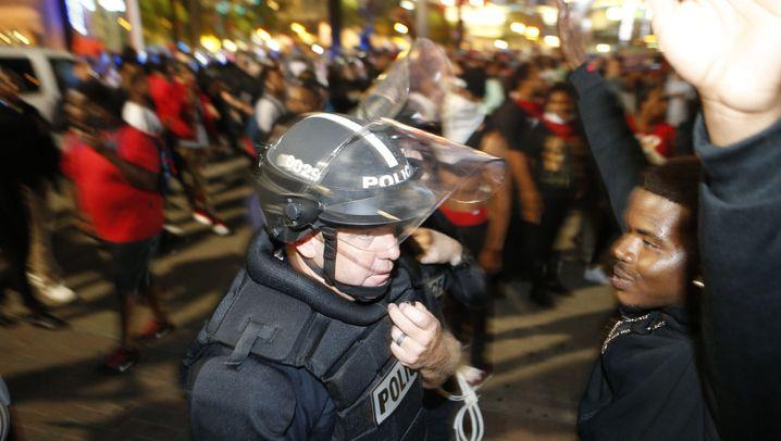 Proteste in Charlotte: Nacht der Gewalt