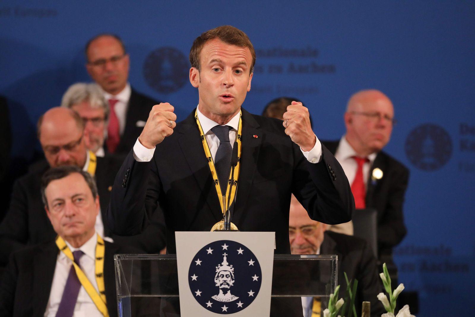 Charlemagne prize/ Emmanuel Macron