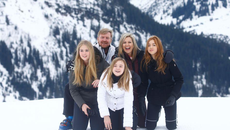 Niederländische Königsfamilie im Winterurlaub: Schifoan!