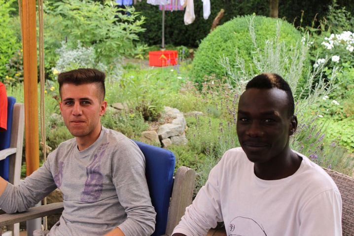 Mahmoud (l.) und Alaeldin: In Deutschland ein Zuhause bekommen