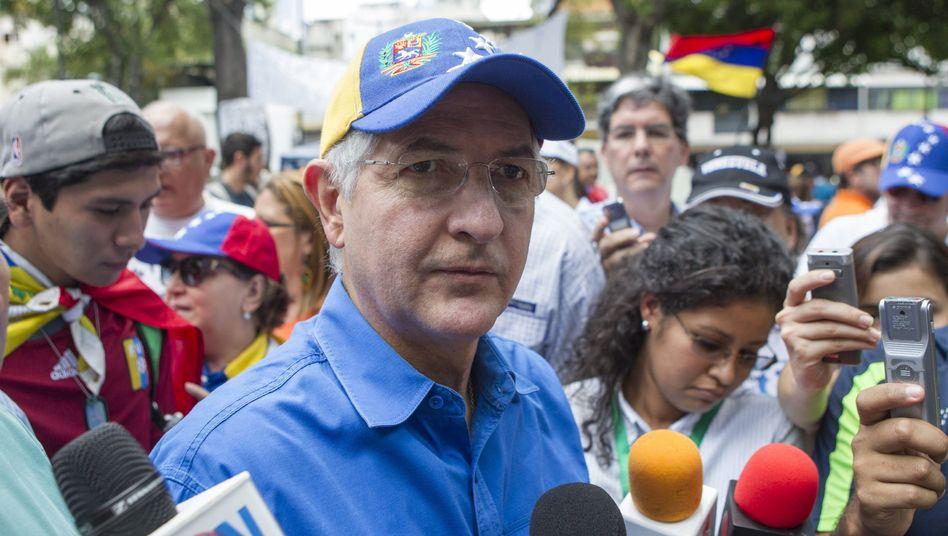 Bürgermeister von Caracas Ledezma (Archivbild): Filmreife Festnahme