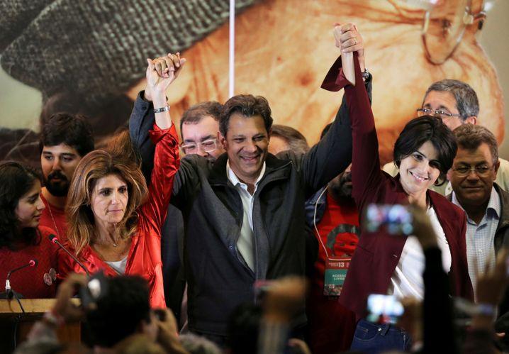 Fernando Haddad, Zweiter der Präsidentschaftswahl vom Sonntag