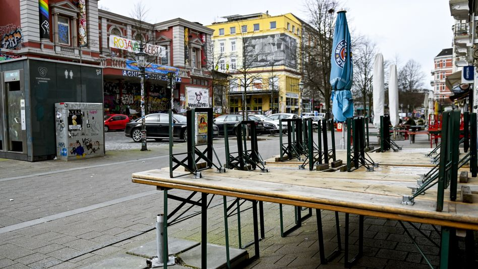 Hamburger Schanzenviertel (im März): Hoffnung zumindest für die Kneipen