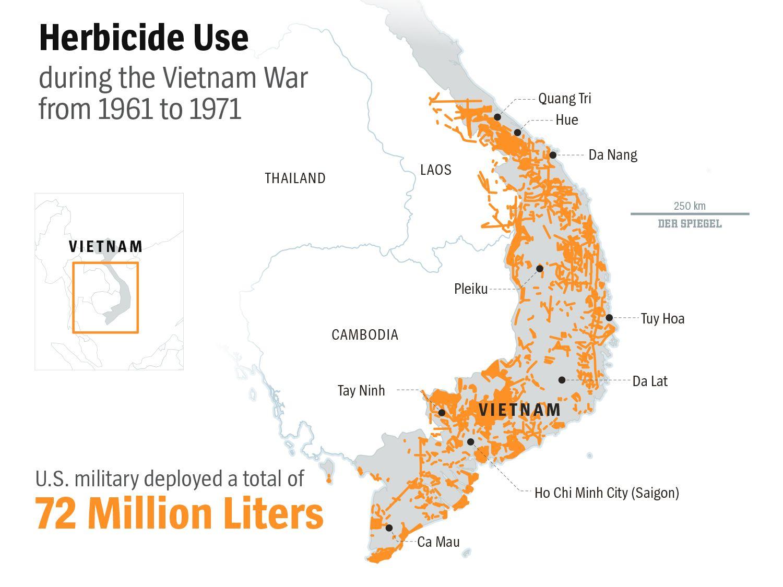 ENGLISH VERSION GRAPHIK DER SPIEGEL - Vietnam - Dioxin - Herbicide Use