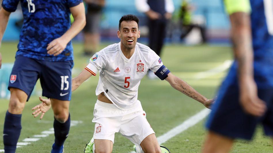 Sergio Busquets war der beste Spieler beim spanischen 5:0 gegen die Slowakei