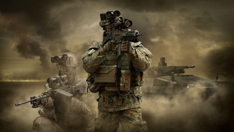 Rheinmetall-Foto: Der Konzern liefert unter anderem Soldatenausstattungen für die Bundeswehr