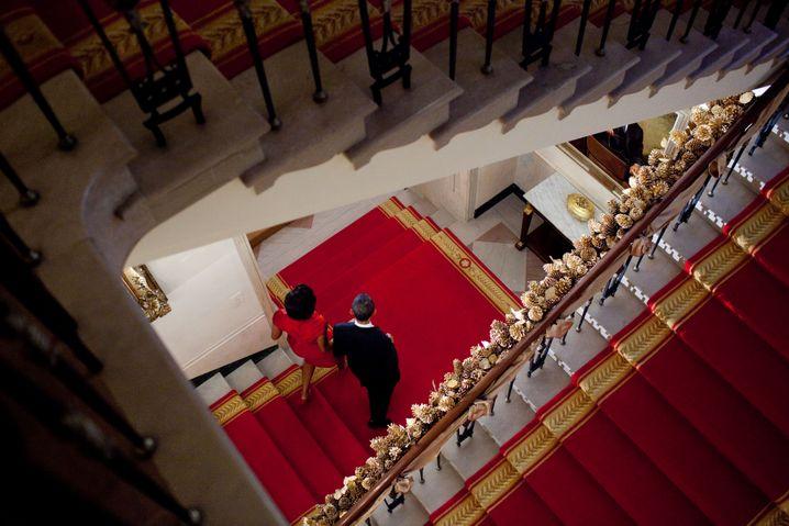Politiker Obama, Ehefrau Michelle im Weißen Haus 2010