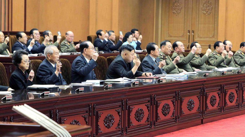 Parlamentssitzung in Nordkorea: 2009 lag die offizielle Wahlbeteiligung bei 99,98 Prozent.