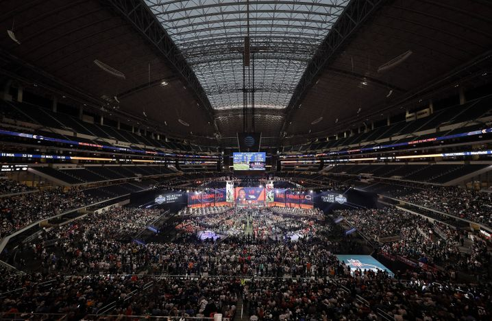 So sah es aus, als vor einem Jahr die NFL Draft im texanischen Arlington stattfand.