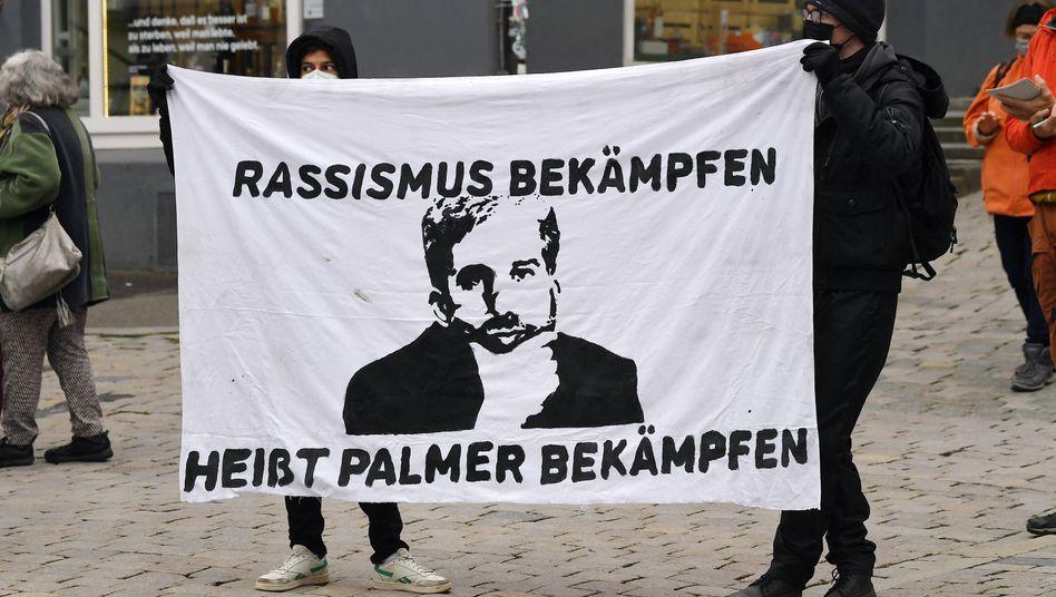 Anti-Palmer-Demonstration in Tübingen am vergangenen Mittwoch