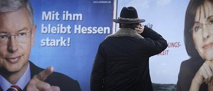 Wahlplakate in Hessen: Koch hat sich den nächsten Zug schon überlegt