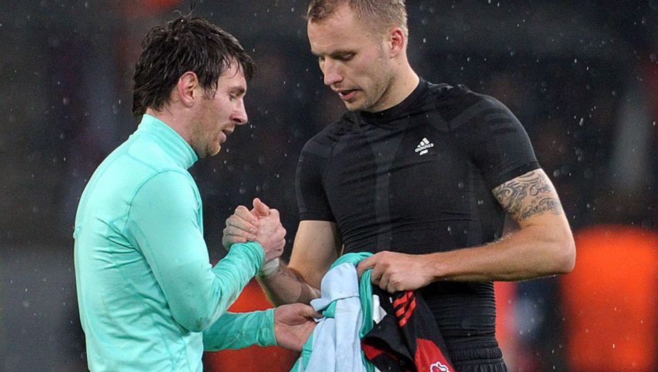 Leverkusener Kadlec (r.): Trikot-Tausch mit Lionel Messi