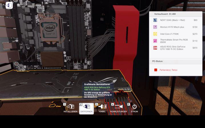 Hardware-Himmel: Der Spieler kann aus zahlreichen Originalbauteilen wählen
