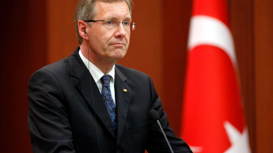 Germany's President Christian Wulff in Ankara.