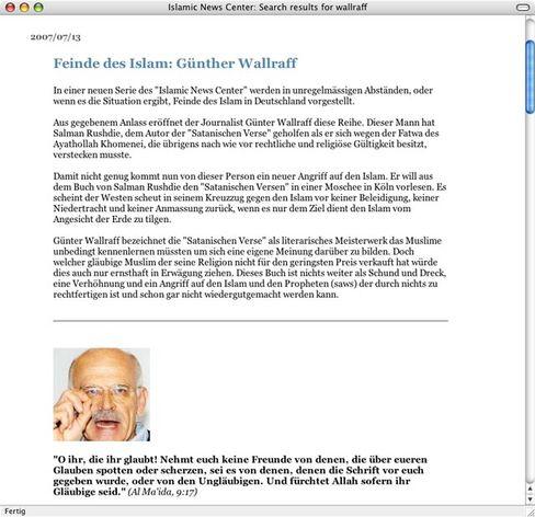 Angriff auf Wallraff: Der Autor soll unter Polizeischutz stehen.