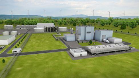 Grafische Darstellung eines Reaktors von Terrapower