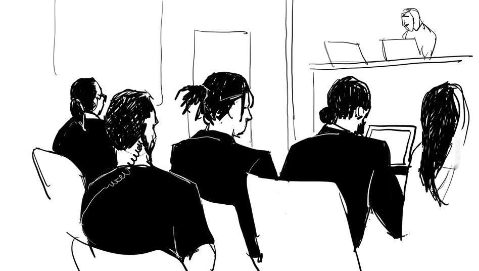 Gerichtszeichnung von A$AP Rocky in Stockholm