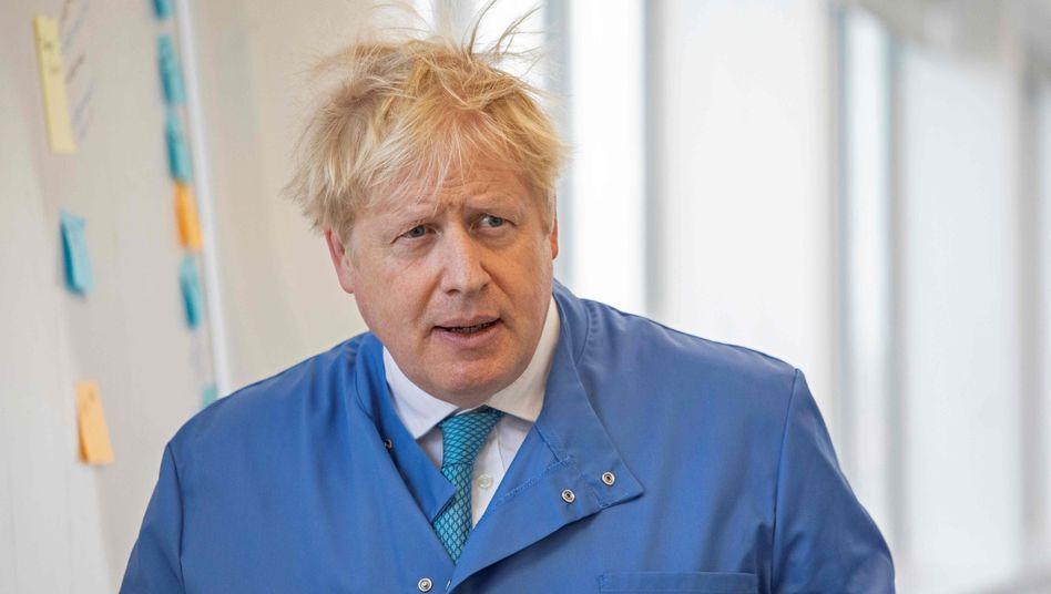Boris Johnson (Foto vom 6. März): Der britische Premierminister war Ende März positiv auf eine Infektion mit Sars-CoV-2 getestet worden