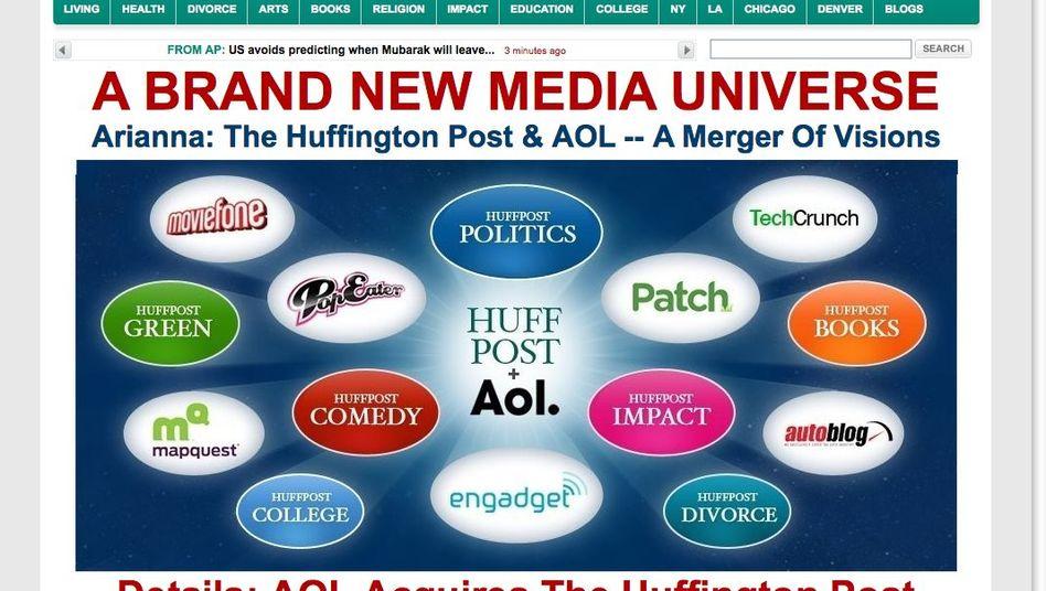 Huffington Post verkündet die Fusion mit AOL: Viel Inhalt für wenig Geld