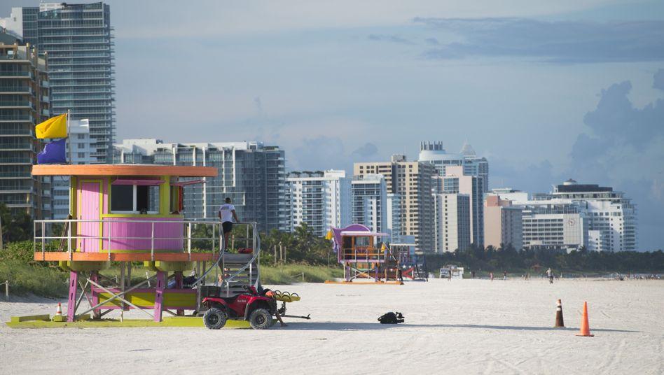 """Leerer Strand in Miami Beach: """"Irma"""" wird in der Nacht auf Sonntag in Florida erwartet"""
