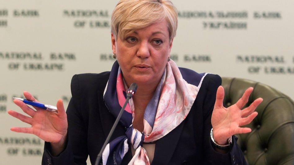 Chefin der ukrainischen Zentralbank Waleria Gontarewa