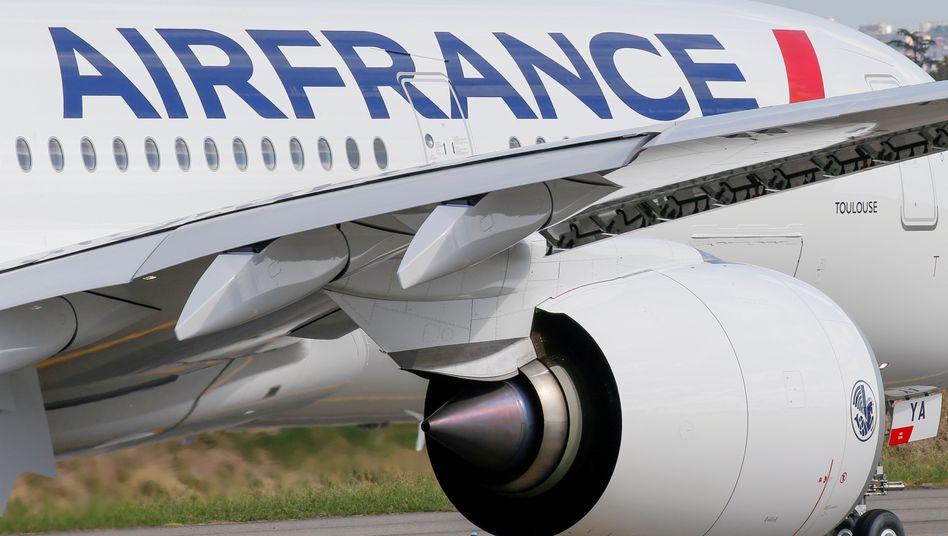 Air-France-Maschine (Archivbild): Flugverbindungen sind künftig verboten, wenn ein Ziel auch per Eisenbahn in weniger als 2,5 Stunden Fahrtzeit zu erreichen ist