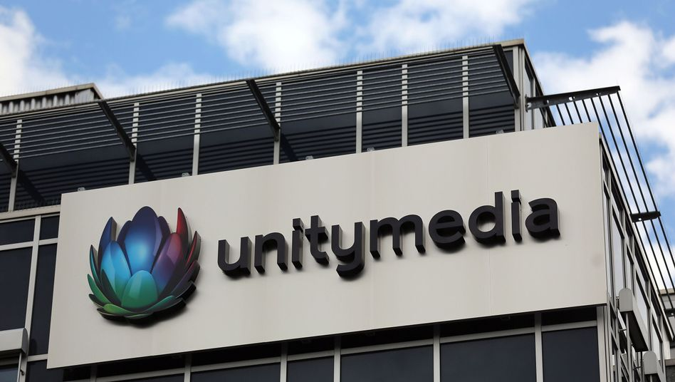 Unitymedia-Logo am Sitz des Kabelnetzbetreibers