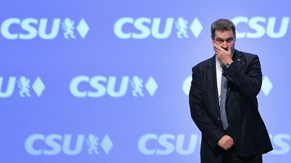 CSU-Chef Markus Söder beim Parteitag in München: im Amt bestätigt